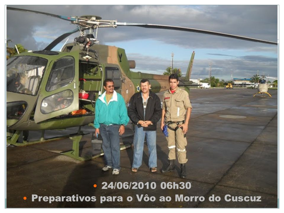 Preparativos para o Vôo ao Morro do Cuscuz
