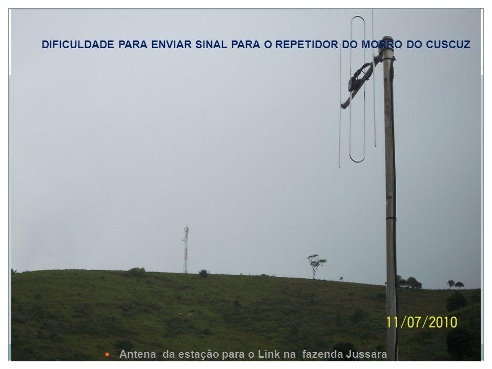 Dificuldade para enviar sinal para o repetidor do Morro do Cuscuz