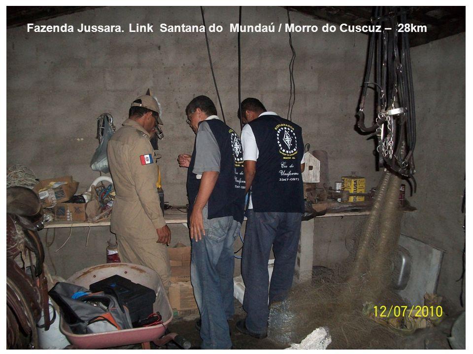 Fazenda Jussara. Link Santana do Mundaú / Morro do Cuscuz – 28km