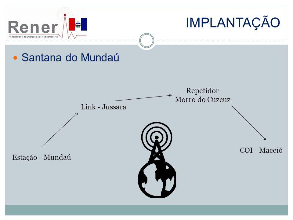 Implantação Santana do Mundaú Repetidor Morro do Cuzcuz Link - Jussara