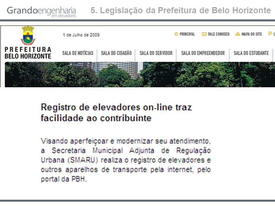 5. Legislação da Prefeitura de Belo Horizonte
