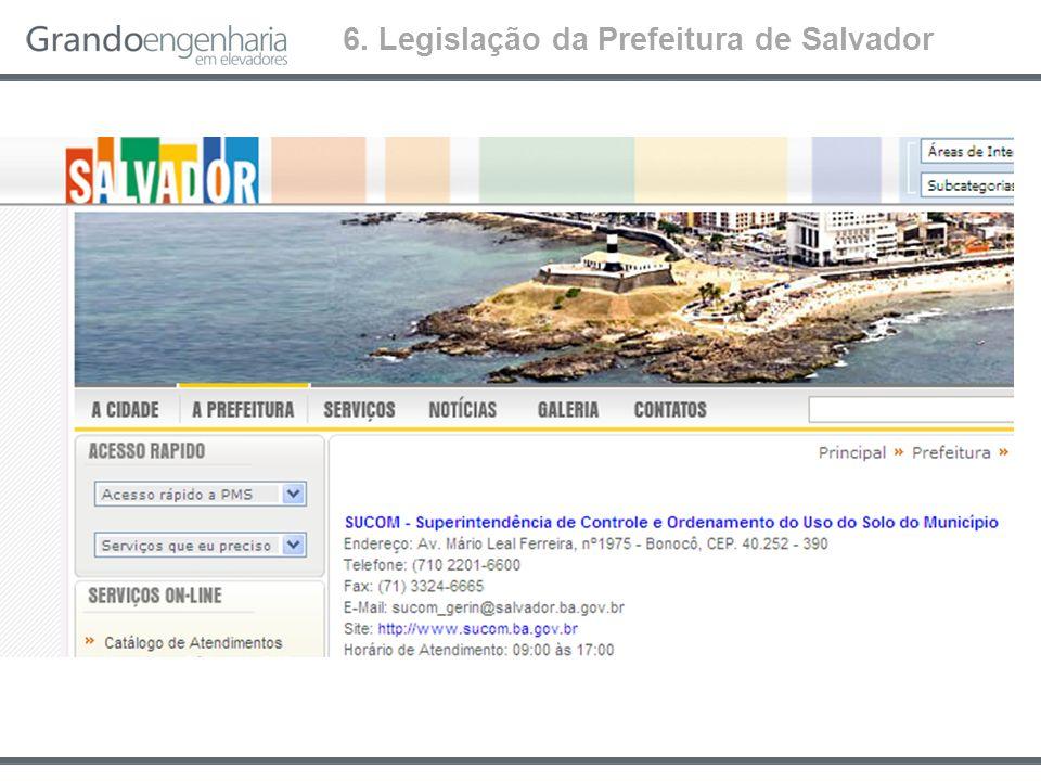 6. Legislação da Prefeitura de Salvador