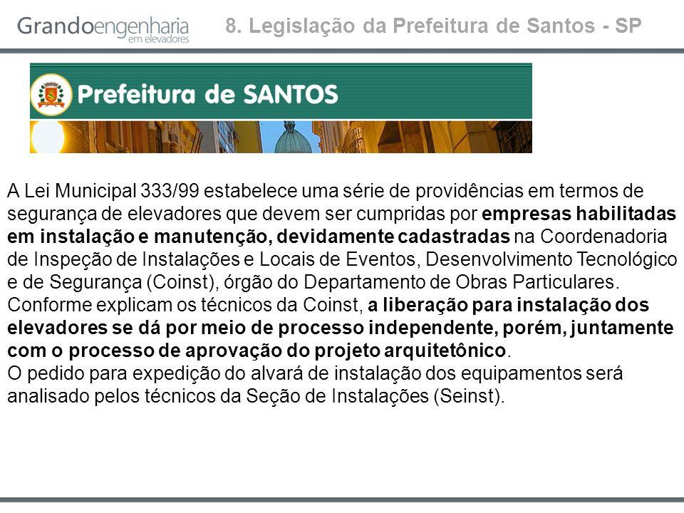 8. Legislação da Prefeitura de Santos - SP