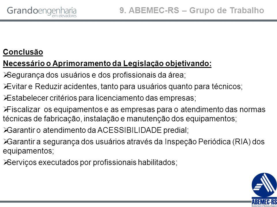 9. ABEMEC-RS – Grupo de Trabalho