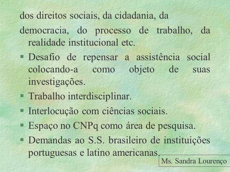 dos direitos sociais, da cidadania, da