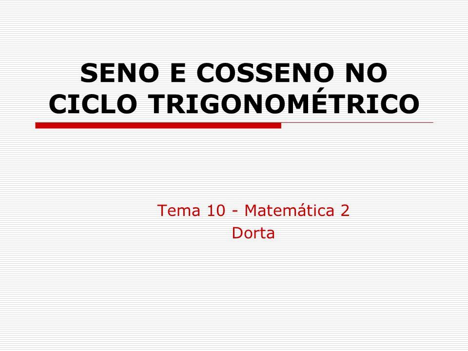 SENO E COSSENO NO CICLO TRIGONOMÉTRICO