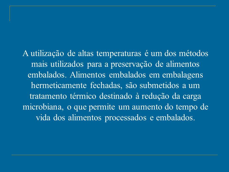 A utilização de altas temperaturas é um dos métodos mais utilizados para a preservação de alimentos embalados.