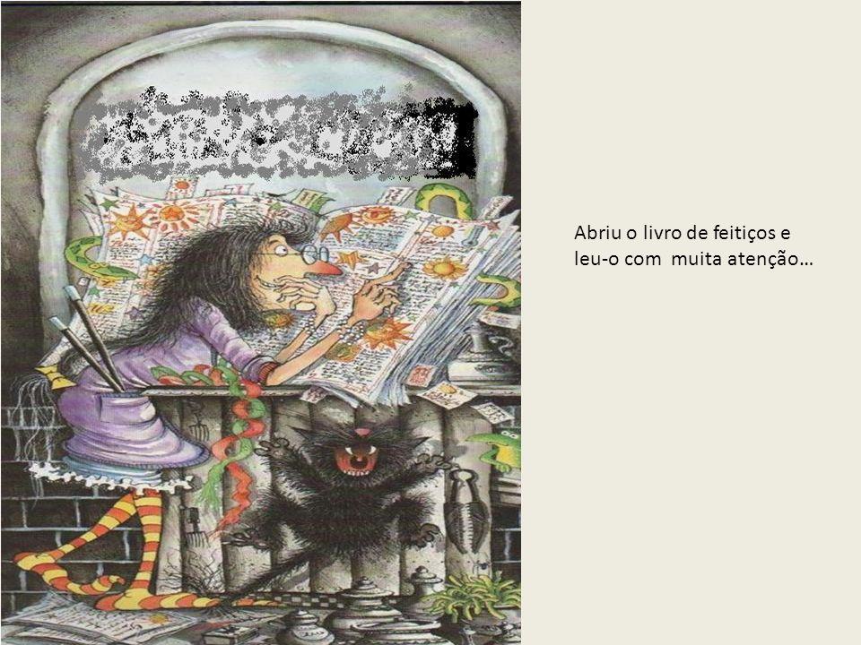 Abriu o livro de feitiços e leu-o com muita atenção…
