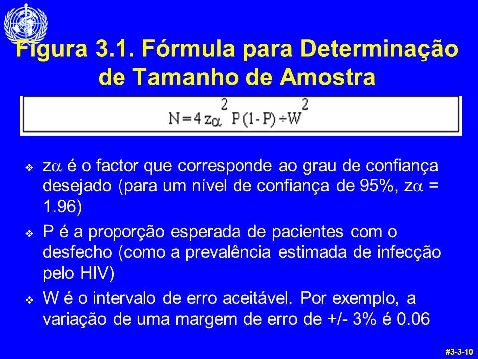 Figura 3.1. Fórmula para Determinação de Tamanho de Amostra