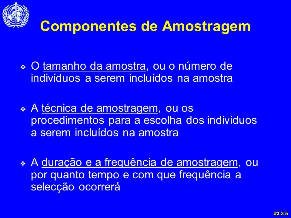 Componentes de Amostragem