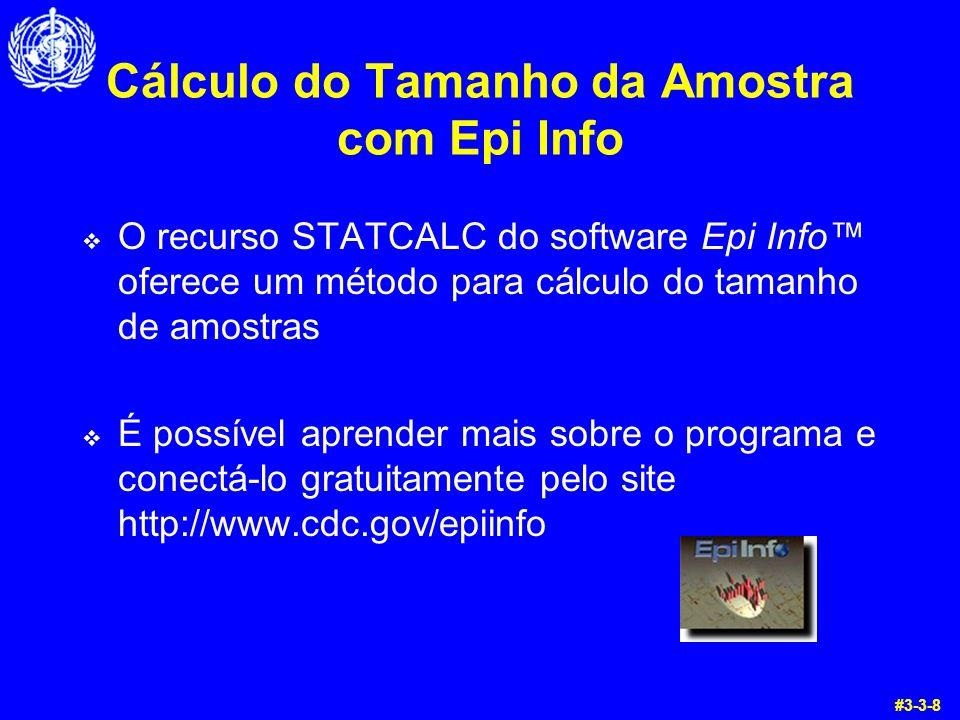 Cálculo do Tamanho da Amostra com Epi Info