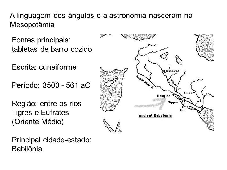 A linguagem dos ângulos e a astronomia nasceram na Mesopotâmia