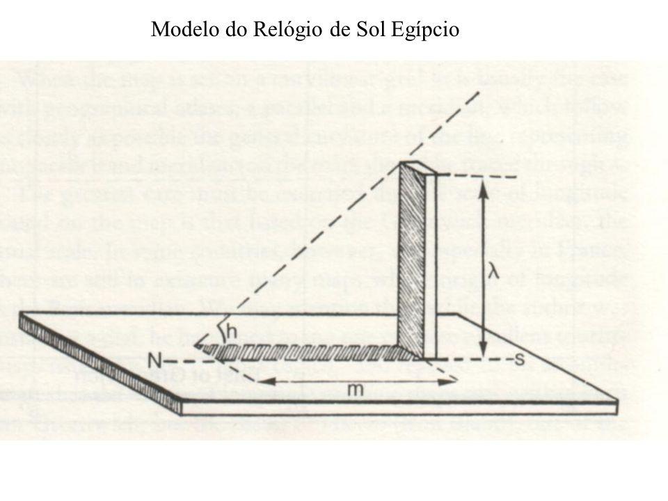 Modelo do Relógio de Sol Egípcio