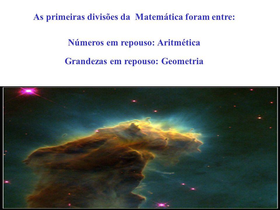 As primeiras divisões da Matemática foram entre: