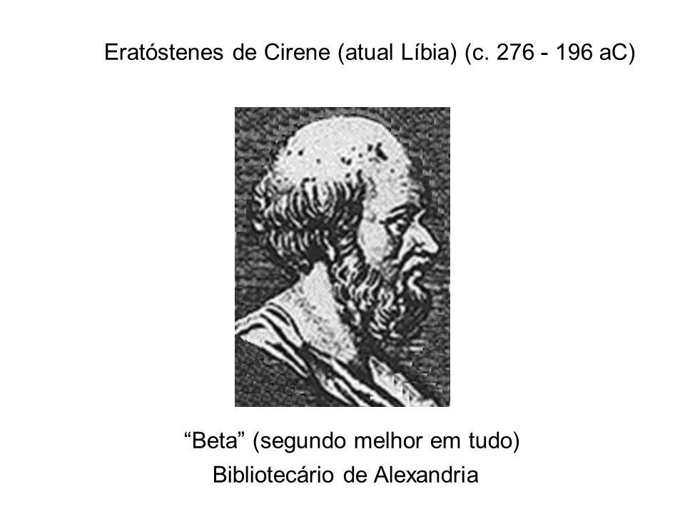 Eratóstenes de Cirene (atual Líbia) (c. 276 - 196 aC)