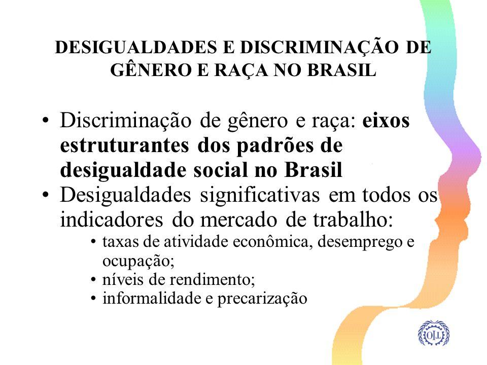 DESIGUALDADES E DISCRIMINAÇÃO DE GÊNERO E RAÇA NO BRASIL