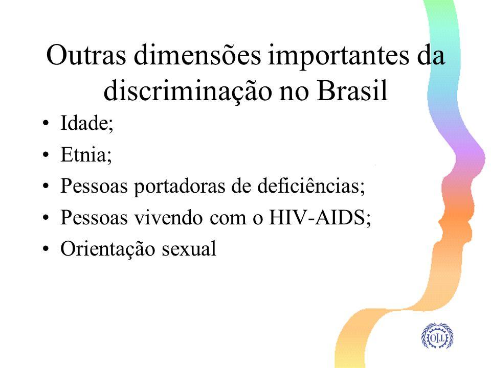 Outras dimensões importantes da discriminação no Brasil