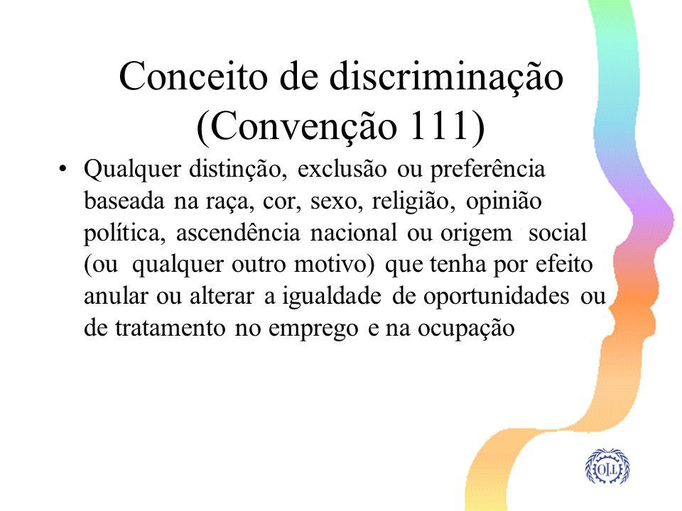 Conceito de discriminação (Convenção 111)