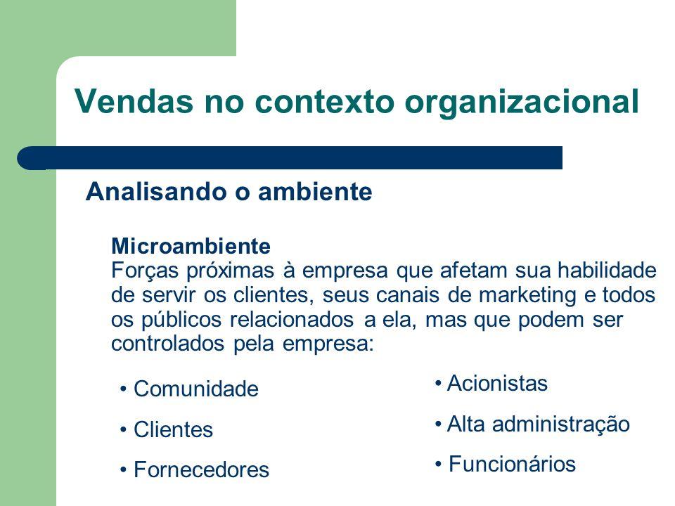 Vendas no contexto organizacional