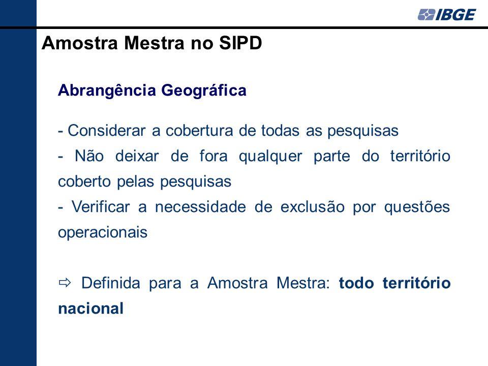 Amostra Mestra no SIPD Abrangência Geográfica