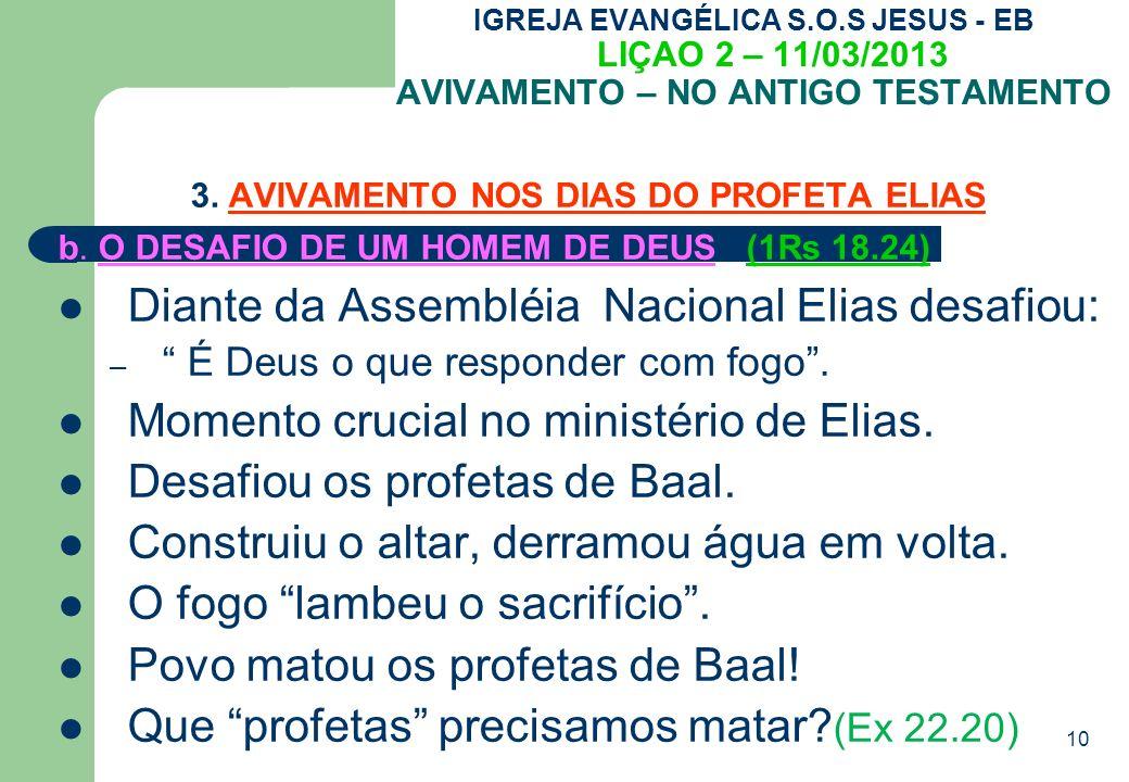 3. AVIVAMENTO NOS DIAS DO PROFETA ELIAS