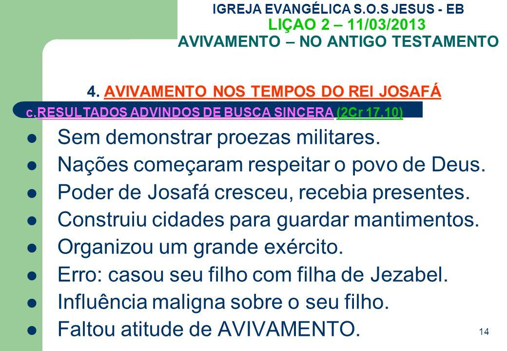 4. AVIVAMENTO NOS TEMPOS DO REI JOSAFÁ