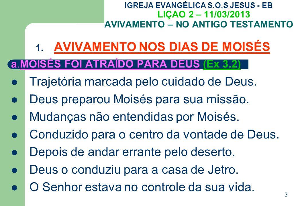 AVIVAMENTO NOS DIAS DE MOISÉS