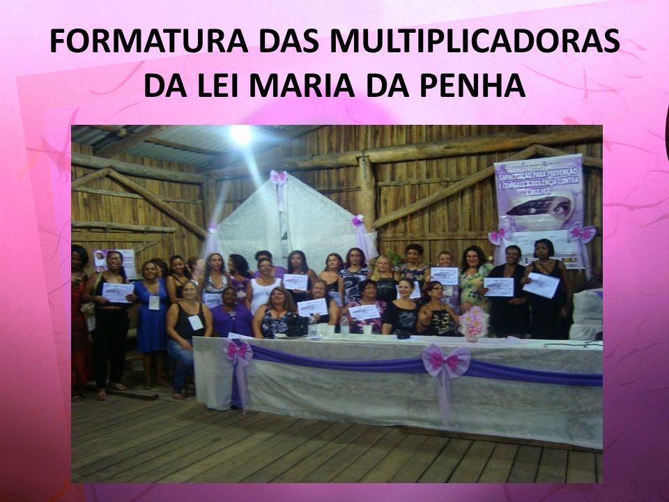 FORMATURA DAS MULTIPLICADORAS DA LEI MARIA DA PENHA