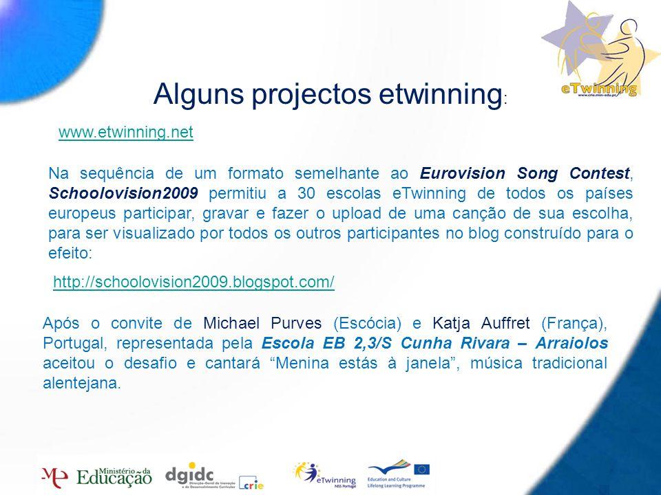 Alguns projectos etwinning: