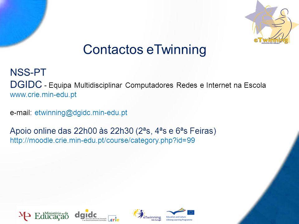 Contactos eTwinning NSS-PT