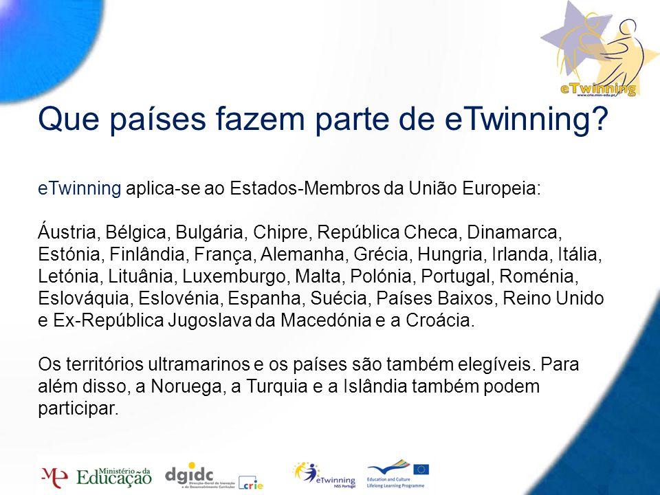 Que países fazem parte de eTwinning