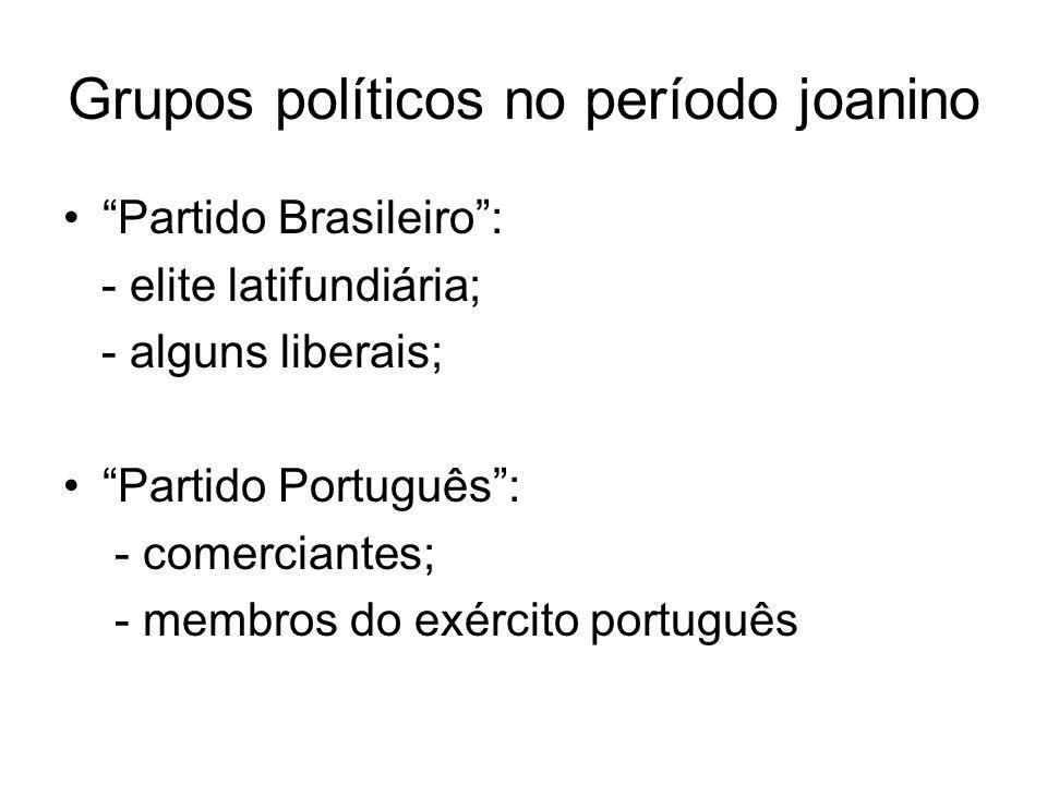 Grupos políticos no período joanino