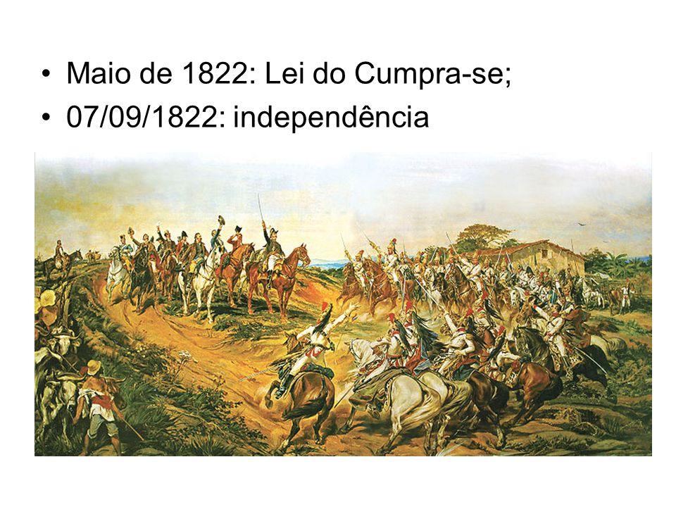 Maio de 1822: Lei do Cumpra-se;