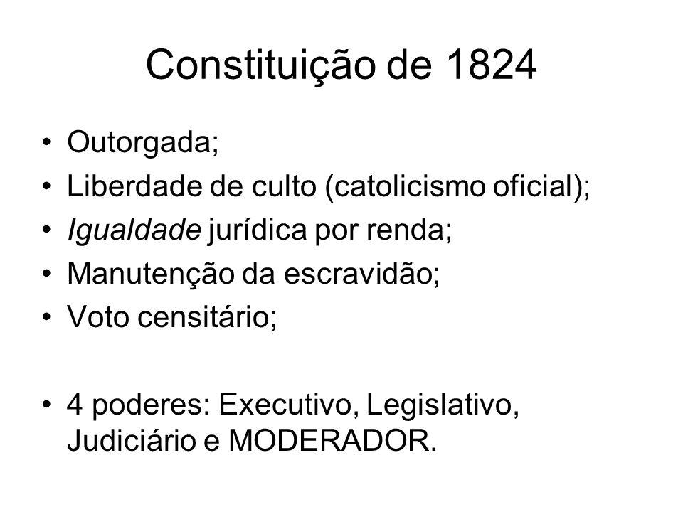 Constituição de 1824 Outorgada;