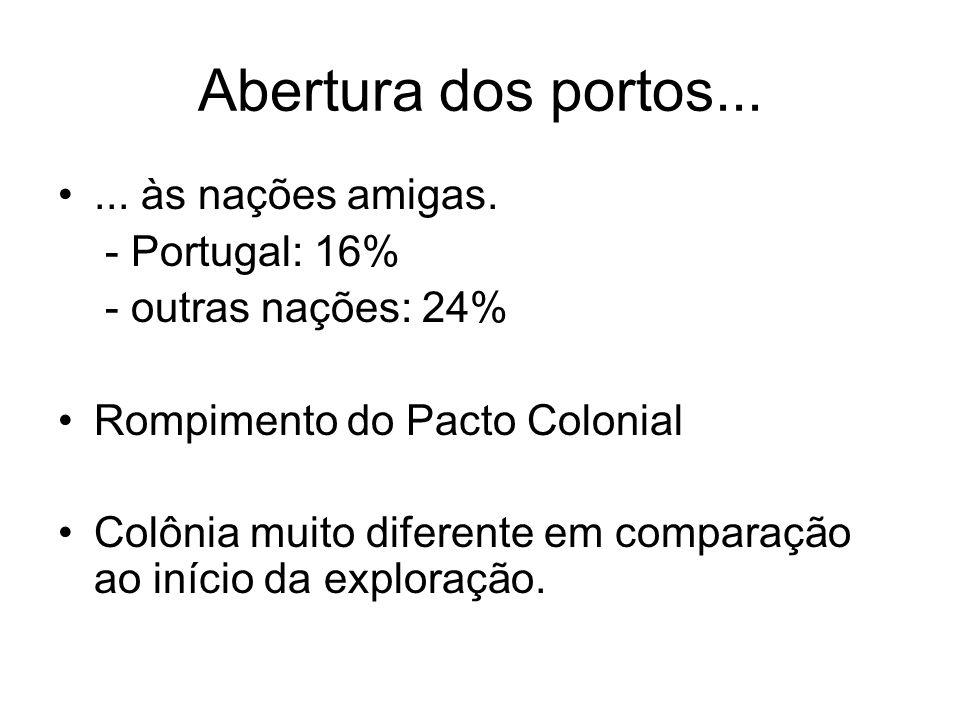 Abertura dos portos... ... às nações amigas. - Portugal: 16%