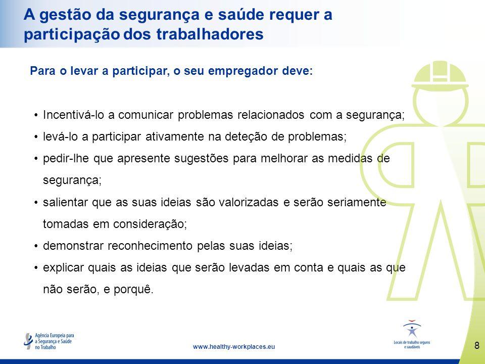 A gestão da segurança e saúde requer a participação dos trabalhadores