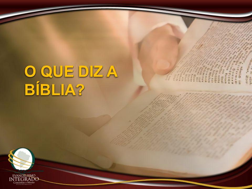 O QUE DIZ A BÍBLIA