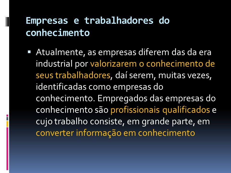 Empresas e trabalhadores do conhecimento