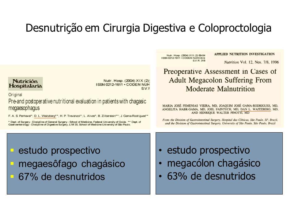 Desnutrição em Cirurgia Digestiva e Coloproctologia