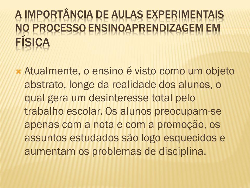 A IMPORTÂNCIA DE AULAS EXPERIMENTAIS NO PROCESSO ENSINOAPRENDIZAGEM EM FÍSICA