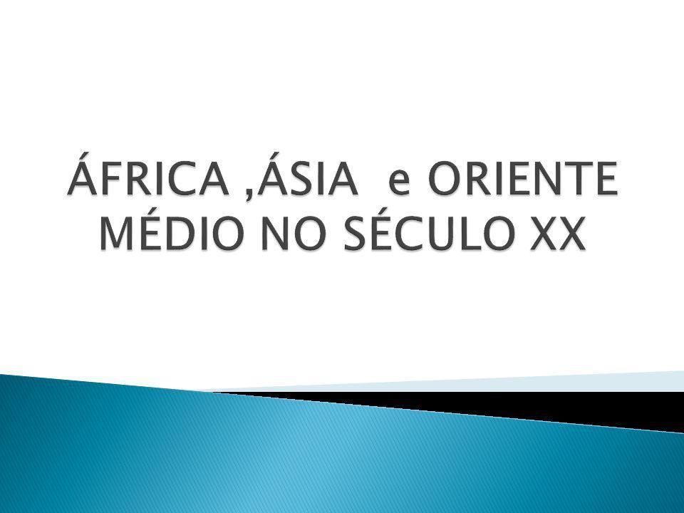 ÁFRICA ,ÁSIA e ORIENTE MÉDIO NO SÉCULO XX