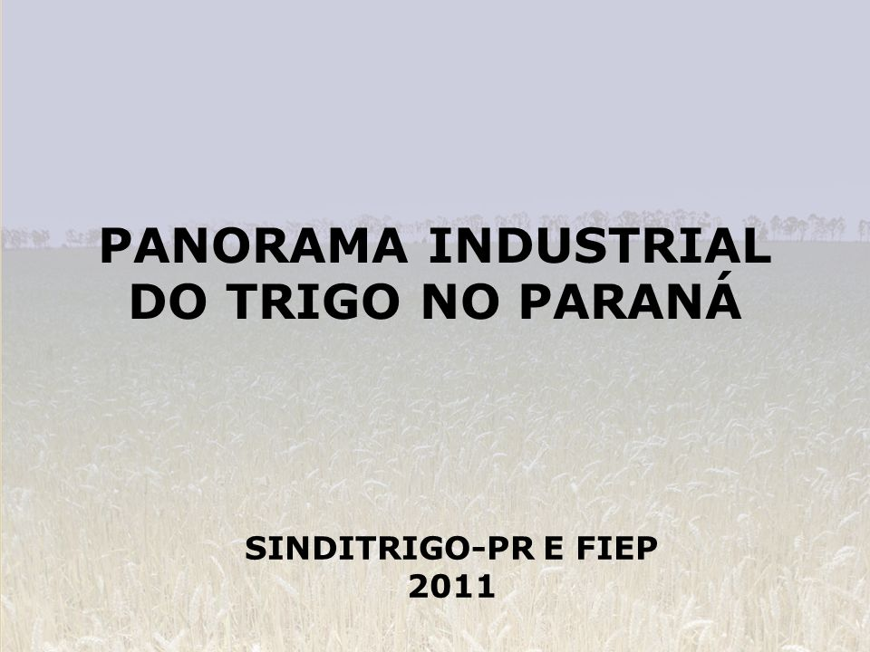 PANORAMA INDUSTRIAL DO TRIGO NO PARANÁ