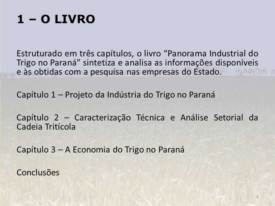 1 – O LIVRO