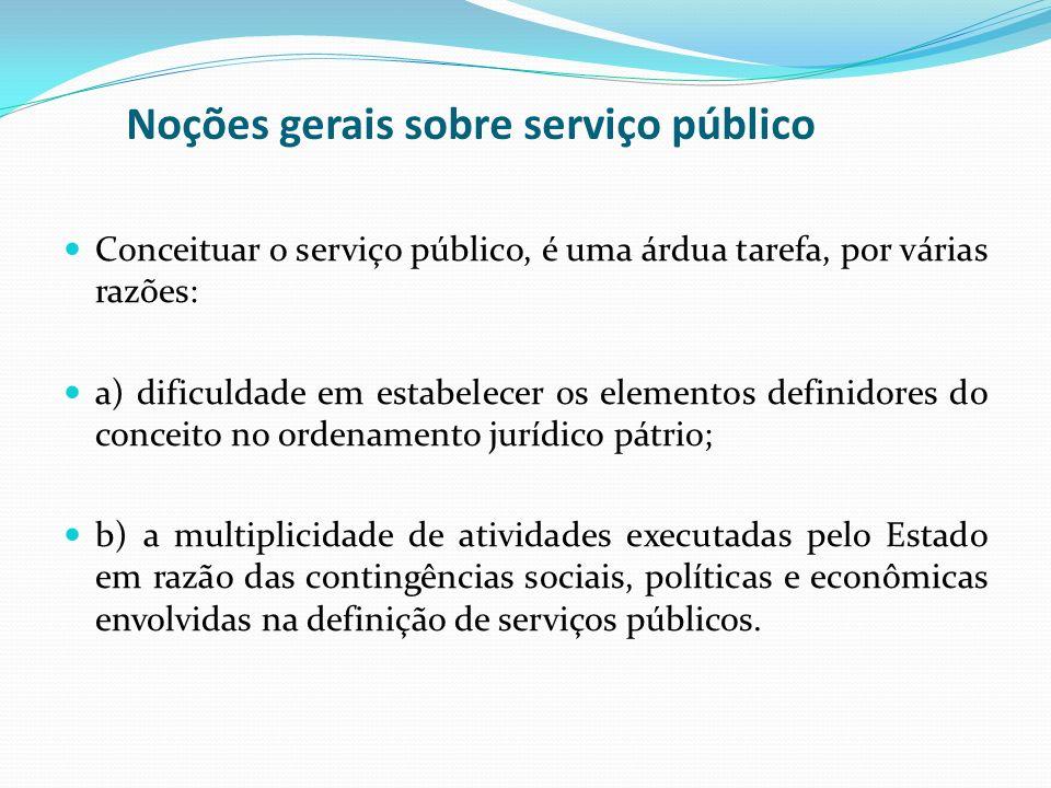 Noções gerais sobre serviço público