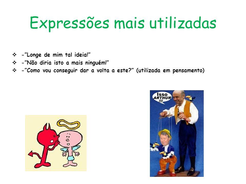 Expressões mais utilizadas