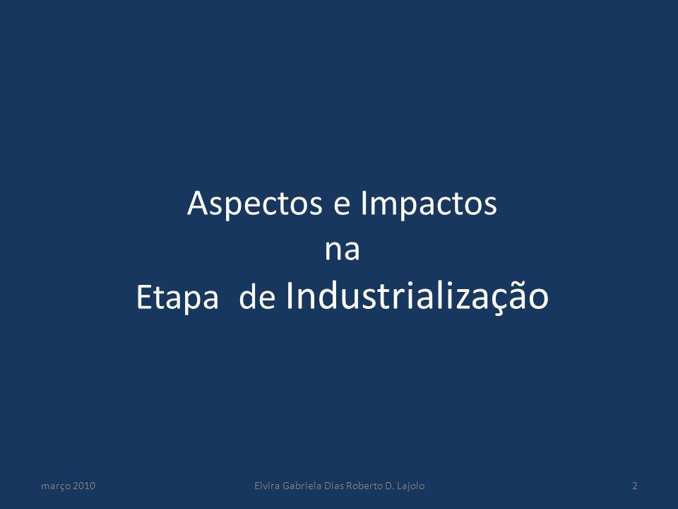 Aspectos e Impactos na Etapa de Industrialização