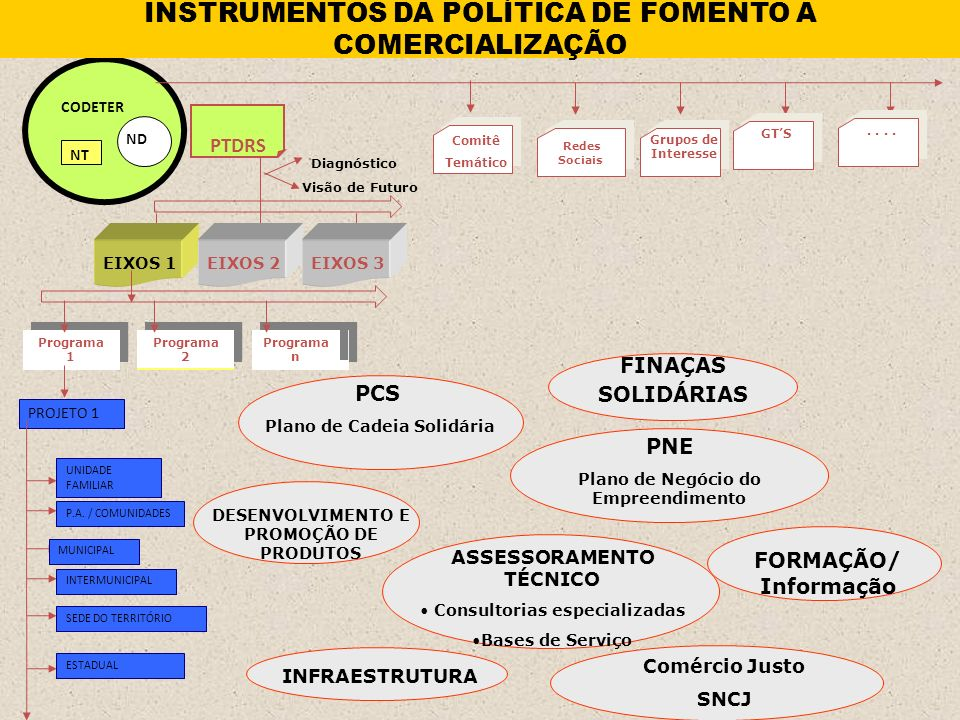 INSTRUMENTOS DA POLÍTICA DE FOMENTO A COMERCIALIZAÇÃO