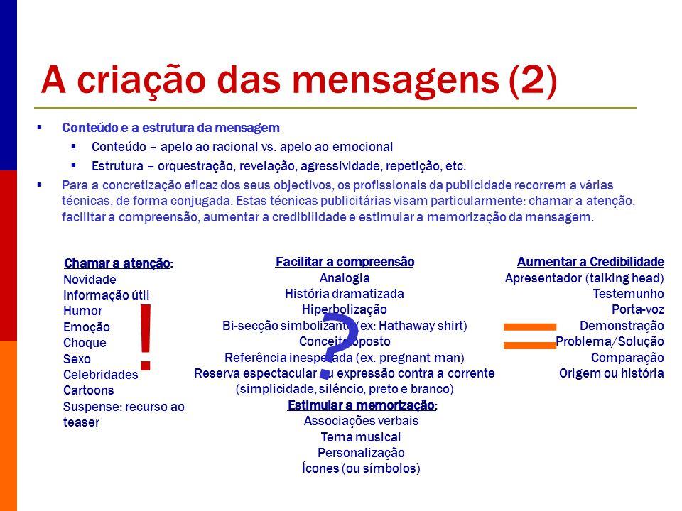 A criação das mensagens (2)