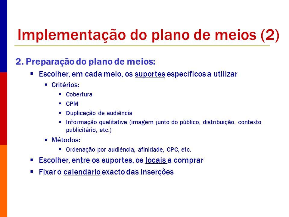Implementação do plano de meios (2)