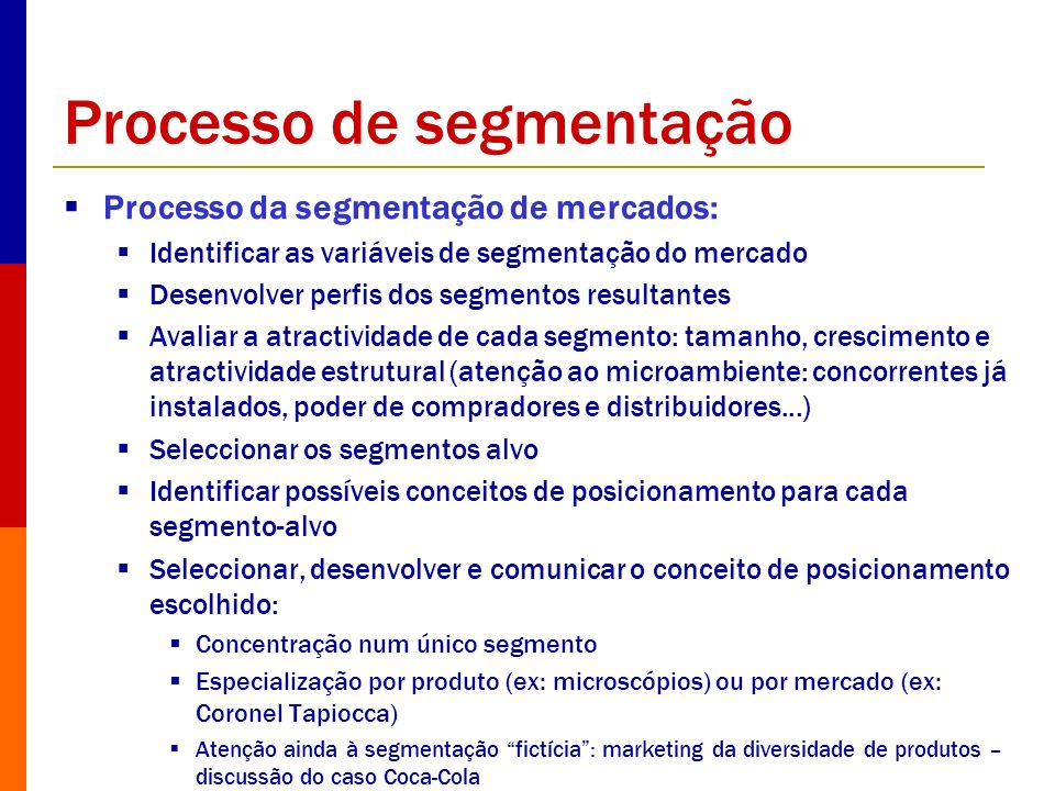 Processo de segmentação